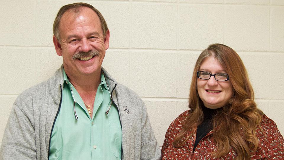 Lock Haven University professor Walter Eisenhauer and assistant professor Pam Ruane.