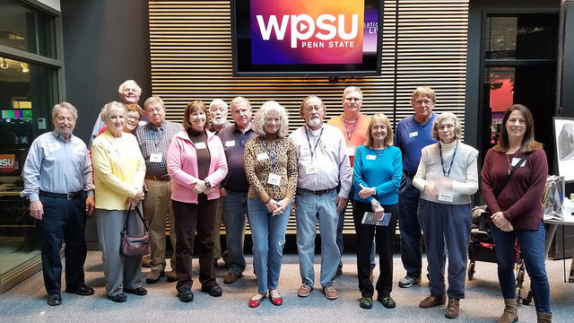 group photo in WPSU studio lobby