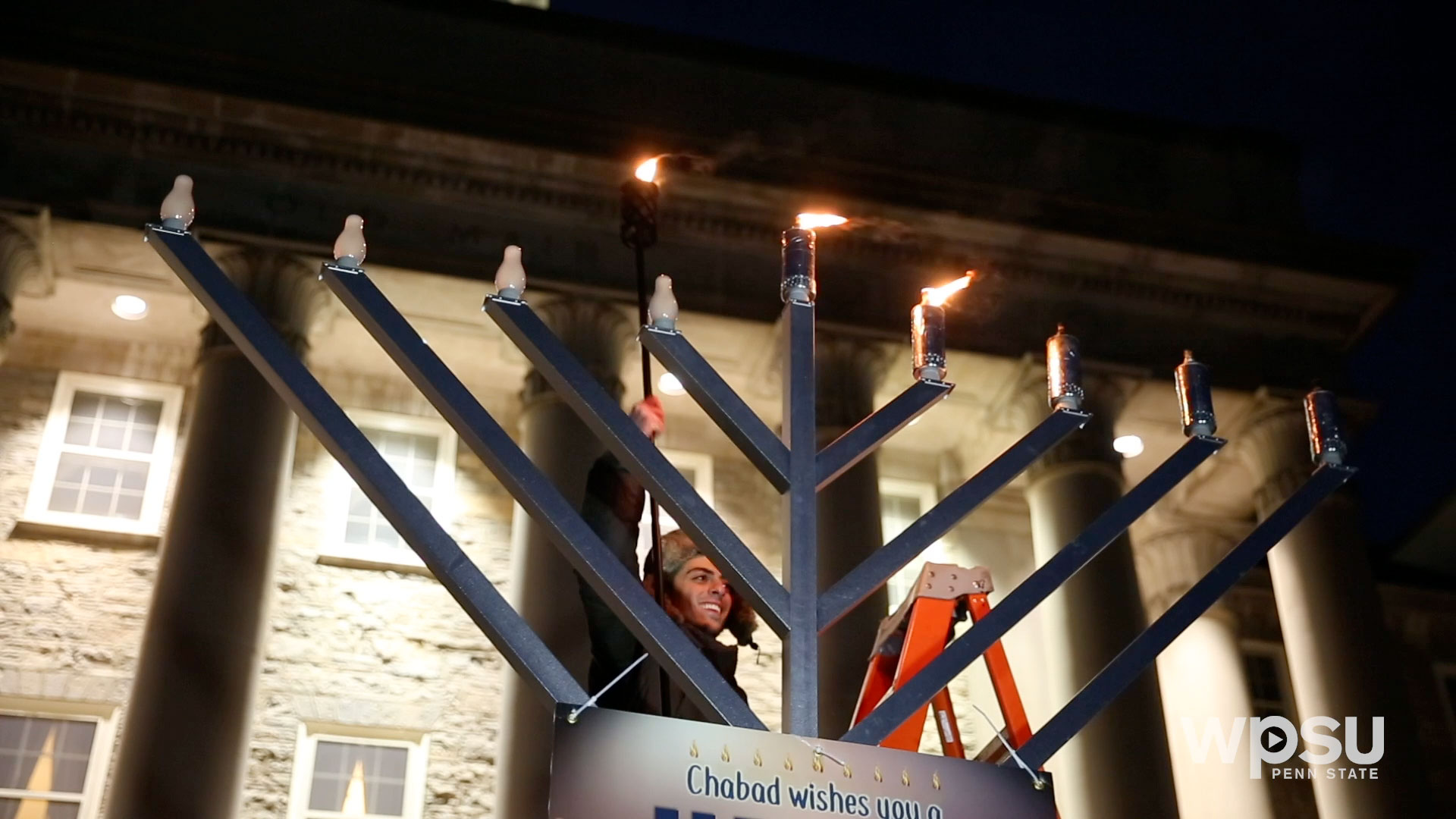Chabad of Penn State Hosts Menorah Lighting