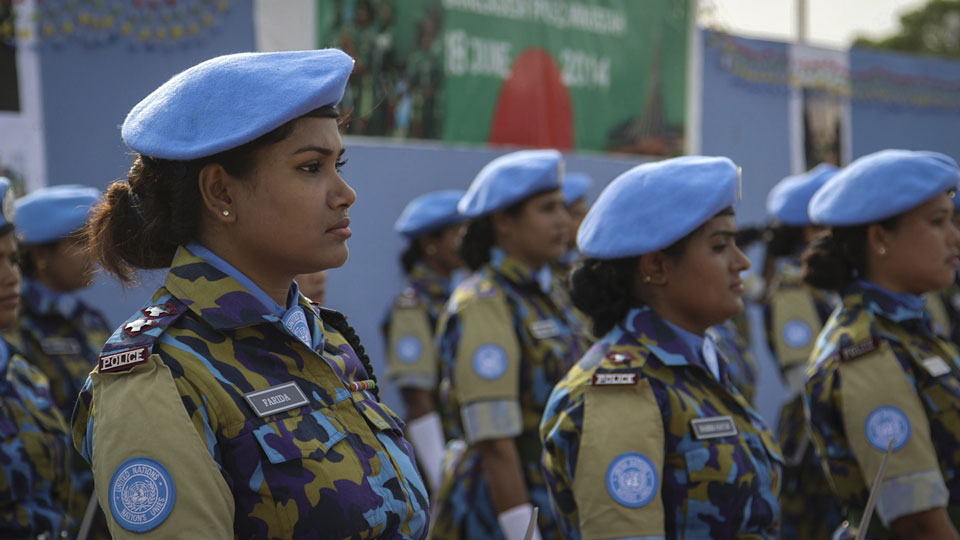 """Farida Parveen in Line, as seen in """"A Journey of a Thousand Miles: Peacekeepers."""""""