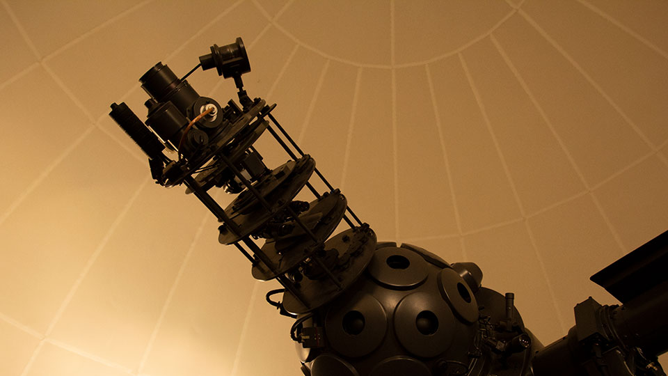 Star Projector at The George F. Beattie Planetarium, San Bernardino Valley College.