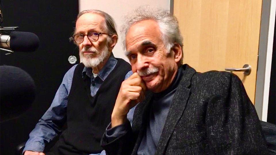 Underground cartoonist R. Crumb and Penn State Professor Jerry Zolten