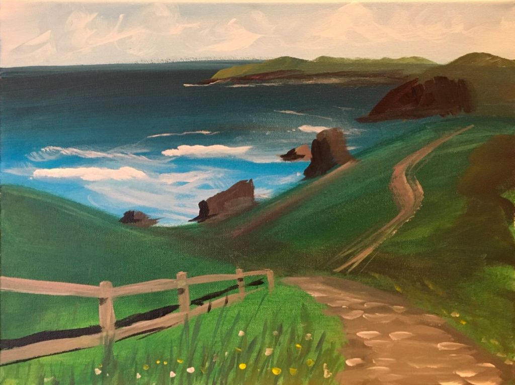 Follow along with artist Jackie Gianico to paint this beatiful landscape.