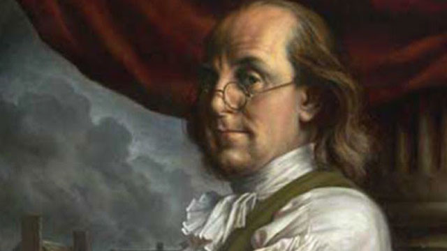 painting of ben franklin