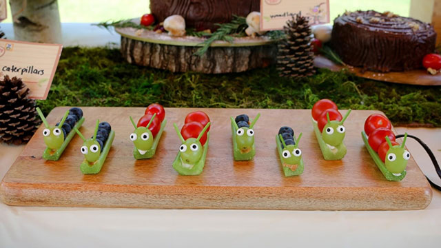 caterpillars made from food