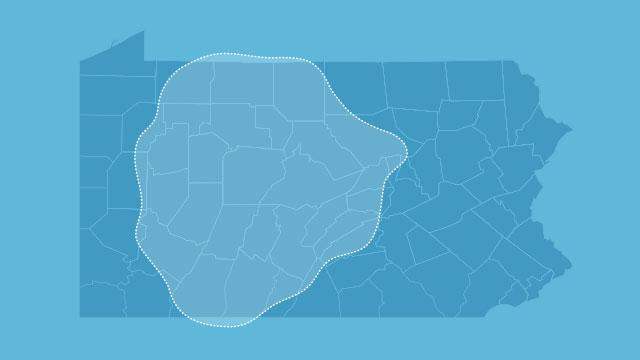 pa map showing wpsu tv coverage