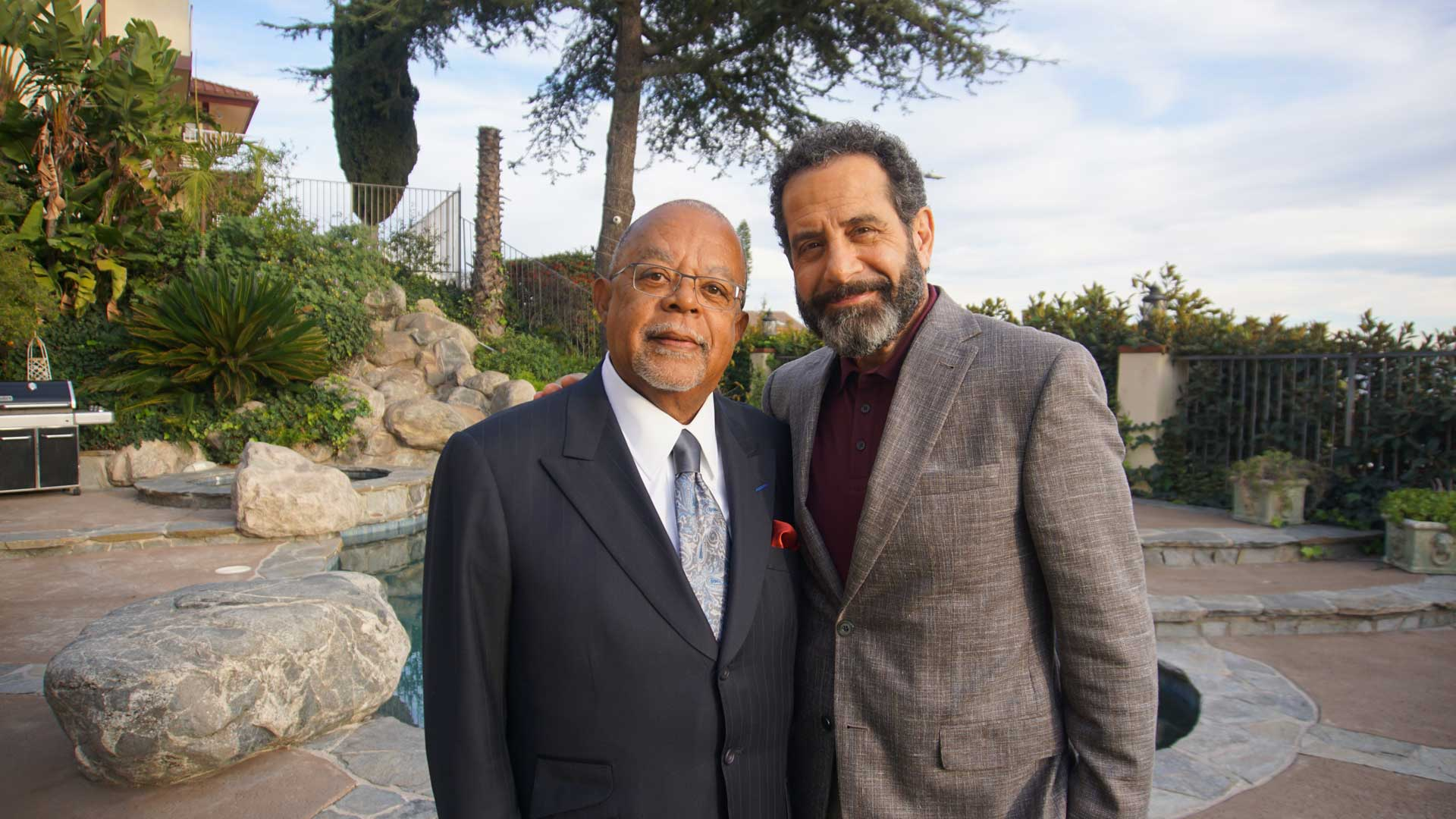 Tony Shalhoub with Henry Louis Gates Jr