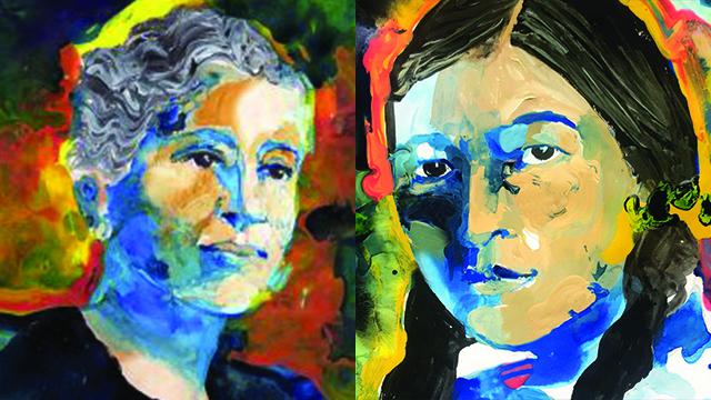 pantings of Zitkála-Šá and Susan La Flesche Picotte